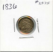1836 H10C Capped Bust Silver Half Dime. Circulated. Lot #2294