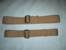 "(Lot of 2) Boys Slide Ring Cotton Belts, Tan , 1-1/2"" wide, Euc - Size 7 M L"