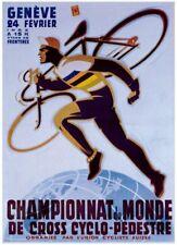 VINTAGE BICYCLE Championnat du monde Cycle Giclee Art Print Poster 26x36