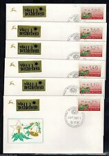 Israel 1992, FDC, Vending KLUSSENDORF Machine Stamp, Christmas Full Cover Set