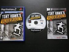 TONY HAWK'S UNDERGROUND : JEU Sony PLAYSTATION 2 PS2 (Neversoft COMPLET suivi)