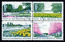 USA 1969 6c Beautification of America se-tenant block of 4 Used