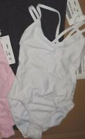 NWOT Double Strap Camisole Leotard Ballet Dance Adult Pinchfront 2 colors