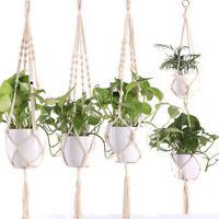 Vintage Macram Plant Hanger Outdoor Indoor Flower Pot Holder Hanging Basket Rope