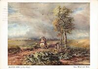 Vintage 1948 Art Postcard, Sun, Wind and Rain (1811) by David Cox 82S