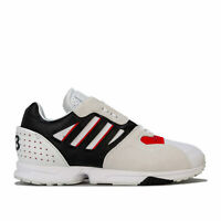 Mens Y-3 Zx Run Trainers In White Red Black- Lace Fastening- Perforations To