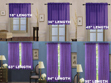 2 Piece Beautiful Sheer Window Elegance Curtains drape panels treatment
