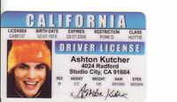 Ashton Kutcher star of that 70s Show Studio City CA card Drivers License