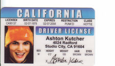 Ashton Kutcher star of that 70s Show Studio City CA card Drivers License