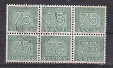 """schöne Tax - Markeneinheit """" Luxemburg """" 6 x 75 C."""
