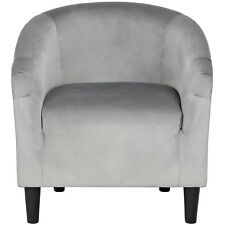 Velvet Club Chair Accent Arm Chair Barrel Accent Chair Living Room Tub Chair