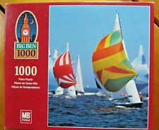 New BIG BEN 1000 Piece Jigsaw Puzzle MB Sail Boat Racing Austria Made in USA