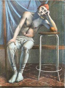 """RODOLFO  MELI  litografia Solitudine  80x60 firmata numerata  """"Uffizi"""""""