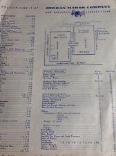 C7-2 Ephemera Jordan Marsh Company New England Store Product List
