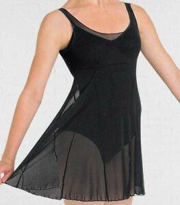 BLOCH Emerge Mesh Dress Black  Adult ballet contemporary jazz FREEPOST