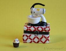 New Retro Chef Kitchen Mixmaster Mixer & Cupcake Porcelain Hinged Trinket Box