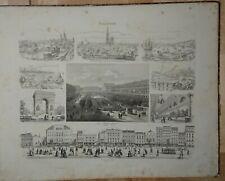 Stahlstich um 1850 Palais Royal Paris Frankreich Straßburg Marseille Avignon...