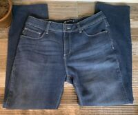 👖 Lee Women's Perfect Fit Straight Leg Blue Jeans Size 12 Medium
