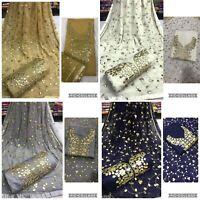 Women's Salwar Kameez Indian Pakistani Heavy Work Unstitched Shalwar Suit Dress