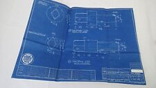 Antique Blueprint Industrial Art Detroit Automotive General Motors 1941 #4