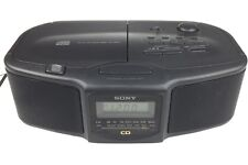 Sony Dream Machine Dual Alarm Cd & Am/Fm Radio Alarm Clock Icf-Cd800 Works Great