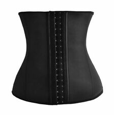 Latex Rubber Waist Trainer Cincher Underbust Corset Shapewear for Women Body