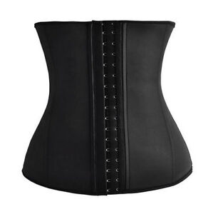 Latex Rubber Waist Trainer Cincher Underbust Corset Shapewear for Women Body