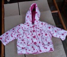 Cherokee Baby Girls Pink Spotted Fleece Winter Coat - 0-3 months