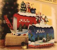 2002 Grandeur Noel Decorative Christmas Mailbox Set Collectar's Edition