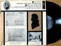 Columbia ML 5012 Mozart REQUIEM MASS Bruno Walter 1956 lp 6-eye MONO