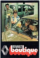RENAULT Boutique accessori 1977 UK Opuscolo del mercato 4 5 6 12 16 15 17 20 30