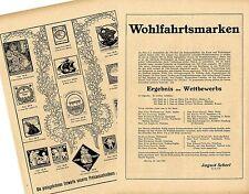 Wohlfahrtsmarken preisgekrönte Entwürfe unseres Pr...Historische Memorabile 1908