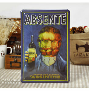 """Beer Whiskey Tin Poster Vintage Metal Sign Home Bar Art Wall Plaque 8x12"""" Gift"""