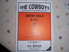 Ebbw Vale AFC V S C BASTIA 97/98 Inter Toto Cup