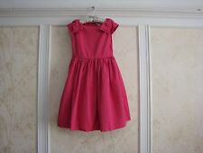 NWT $79 JANIE AND JACK GIRLS BRIGHT PINK BOW DRESS 4 4T