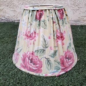 Vintage LAURA ASHLEY Quartet Shabby Chic FLORAL Rose Fabric LAMP SHADE 11 14 7