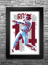 PETE ROSE art print/poster PHILADELPHIA PHILLIES FREE S&H! JERSEY