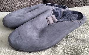 ECCO Easy Slip On Mule Magnet Grey Nubuck Lamb Fur Lined EUR 42 US 8-8.5 $100