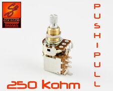 Bourns 250k push pull potentiometer resistor for guitar or bass Fender Gibson