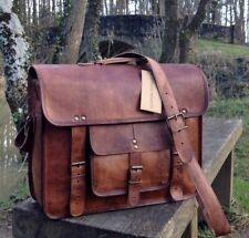 Brown Men's Genuine Vintage Leather Messenger Laptop Briefcase Satchel Bag