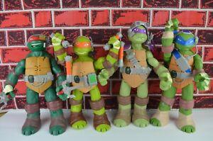 """Teenage Mutant Ninja Turtles Interactive 11"""" Action Figures Set 4 Talking TMNT"""