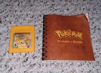 Pokémon Yellow Version: Special Pikachu Edition (Nintendo Game Boy) NEW BATTERY
