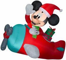 CHRISTMAS INFLATABLE SANTA DISNEY MICKEY MOUSE AIRPLANE PLANE  AIRBLOWN  4.5 FT