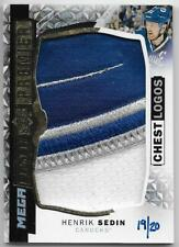 15/16 UPPER DECK PREMIER MEGA PATCH CHEST LOGOS #PMPHS Henrik Sedin #19/20 3CLR