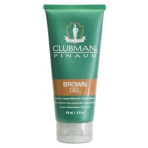 Clubman Pinaud Brown Hair / Beard / Moustache Gel 89ml to cover Grey hair