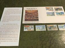Maurice réalisations dans le 20th siècle plus timbres non oblitérés et Info Carte