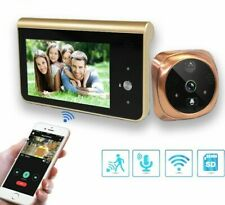 Doorbell Video Peephole Wifi Camera 4.3in Monitor Motion Detection Eye Viewer