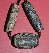 Ancient African Granite Gneiss Stone Dogon Tribal Beads Found Mali African Trade