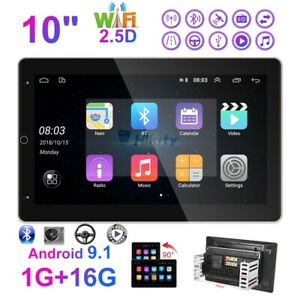 10 Inch Double 2 Din Car Stereo Radio Android GPS Wifi Touch Screen FM Player
