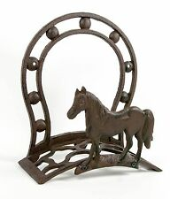 Hose Holder Cast Iron Horse Sreda Decorative Horseshoe Reel Hanger Antique Rust